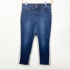 Nine West Gramercy Skinny Ankle Dark Wash Jeans